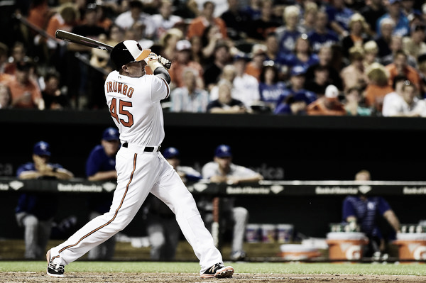 Mark Trumbo had been a pleasant surprise in Baltimore. Photo: Getty Images/Patrick McDermott