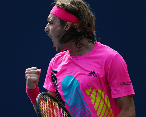 Stefanos Tsitsipas has fought past three very challenging opponents this week in Toronto. Photo: Getty Images