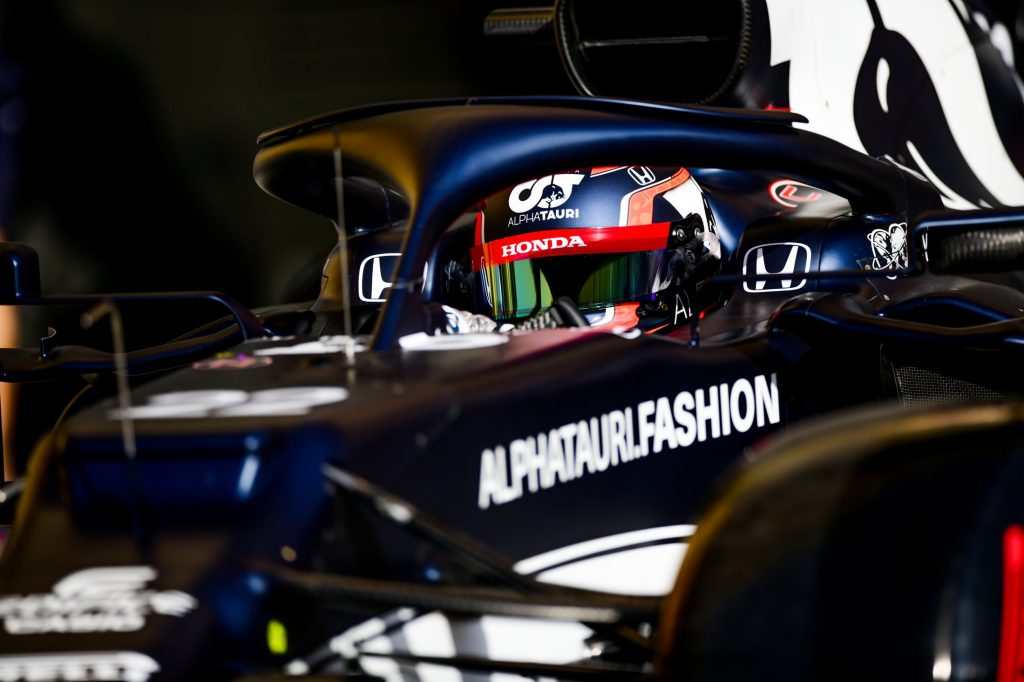 Yuki Tsunoda en su Alpha Tauri. FUENTE: F1