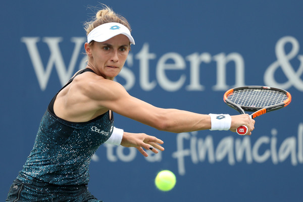 Lesia Tsurenko had a massive lead in the quarterfinal meeting with Halep, but could not finish her off. Photo: Matthew Stockman/Getty Images