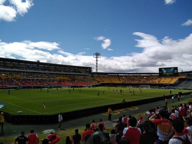 Independiente Santa Fe vs Patriotas F,C, Partido válido por la quinta fecha de la Liga Aguila 2019-II. Imagen: Jordan Bernal - Vavel Colombia.