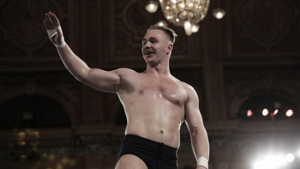Tyler Bate will be in action. Photo- Sky Sports