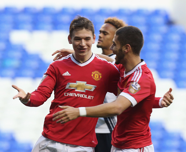 Donald Love celebrates his first goal in 3 and a half years | Photo: Matthew Peters/Man Utd