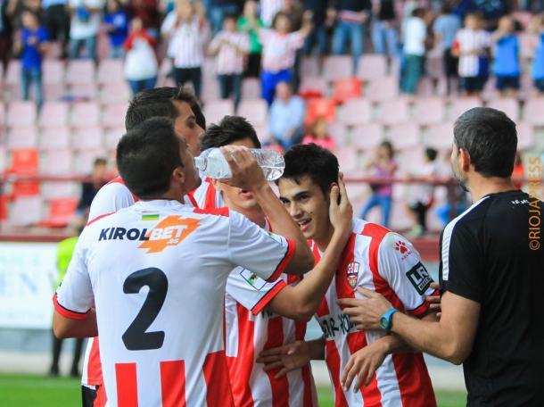 Reguilón marcó cuatro goles en el encuentro contra el Athletic B | Foto: UD Logroñés