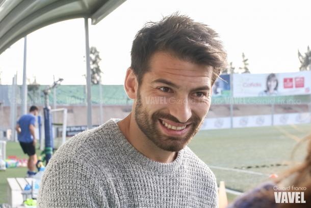 La sonrisa de un futbolista realizado | Foto: Gerard Franco - VAVEL