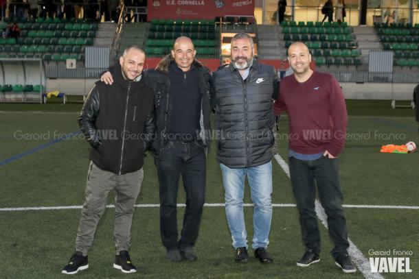 De izquierda a derecha: Albert, Andrés, Diego y Jose posan para VAVEL | Foto: Gerard Franco