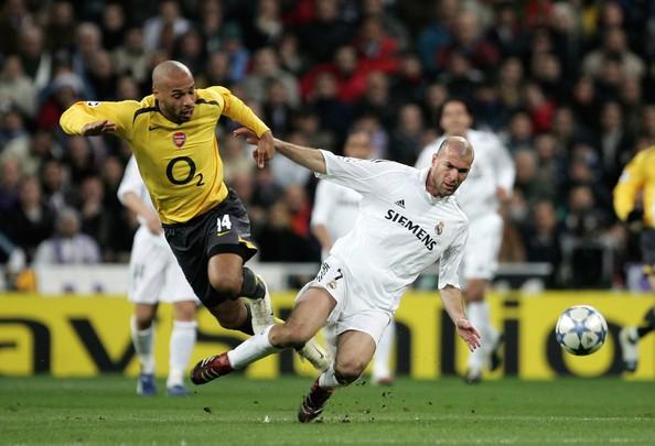 Henry y Zidane en los octavos de la Champions   Fuente: Getty Images