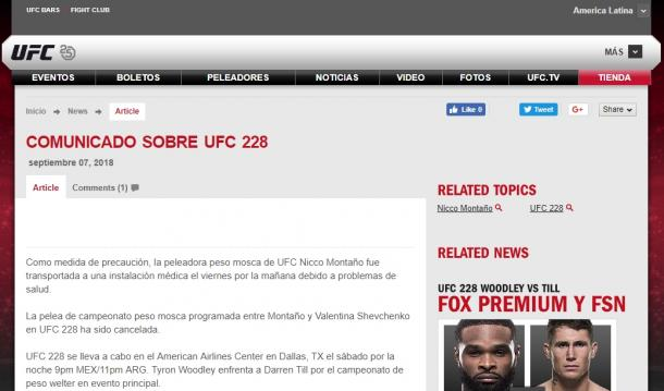Foto: UFC en español