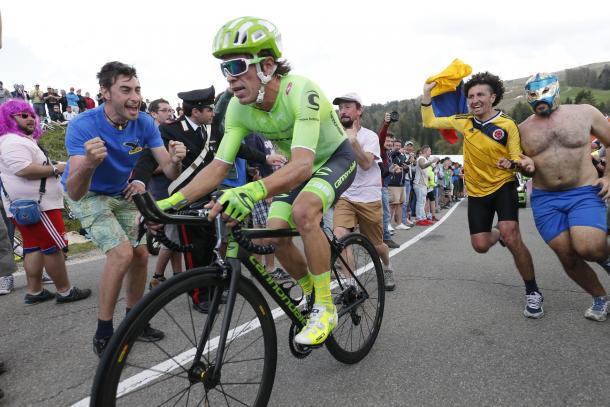 Rigoberto Urán en la etapa 15 del Giro de Italia 2016   FOTO: Yuzuru SUNADA