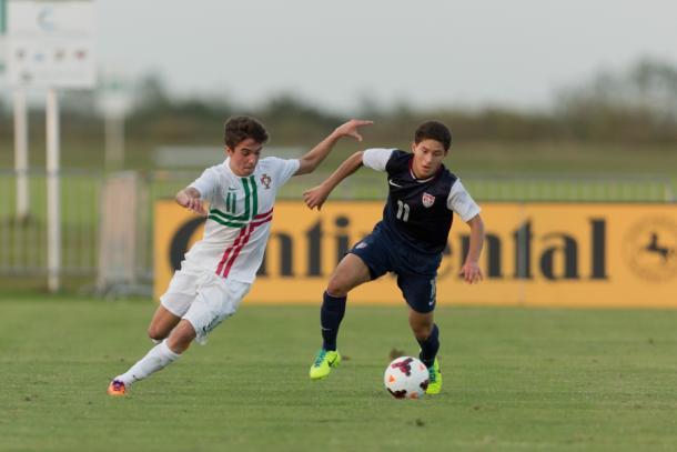 Joshua Pérez en un partido de la selección sub-17 de Estados Unidos | US Soccer National Team