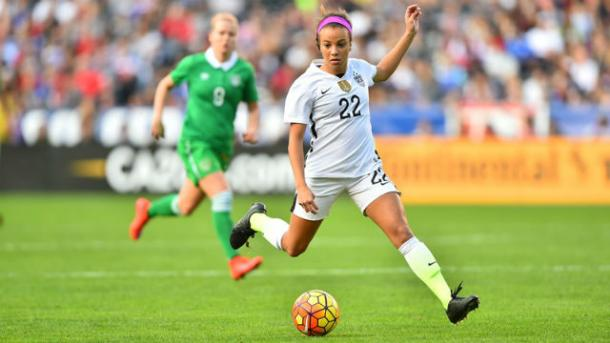 17-year-old forward Mallory Pugh scored in her debut for the senior team against Ireland on Saturday at Qualcomm Stadium. Photo provided by US Soccer.