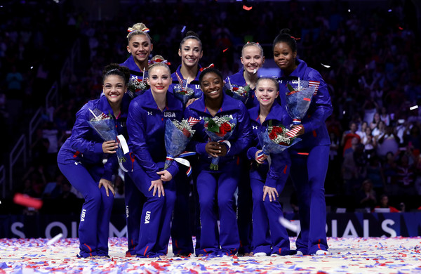 United States team after Olympic Trials. Photo Credit: Ezra Shaw of Getty Images