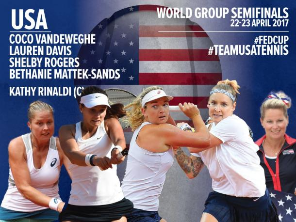 American team nominations. Photo credit: Fed Cup.