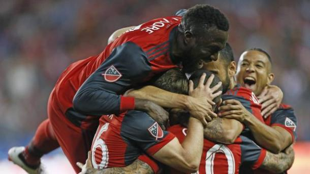 Euforia al celebrar un gol. // Imagen: Toronto FC