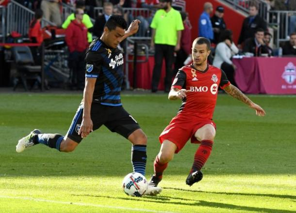 Darwin Cerén didn't see out the game due to a bad challenge on Marco Delgado | Source: sjearthquakes.com