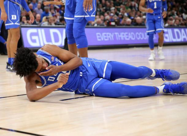 Bagley sat out the rest of Duke's 88-81 win over Michigan State with an eye injury (Dennis Wiezbicki/USA Today)