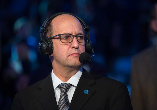 Jeff Van Gundy would definitely help a defense in need if he were to return to the Rockets head coaching position. However, he would have to work on his offensive schemes as well to be considered, since management want to run a fast paced, small-ball offense. Photo: Jerome Miron/USA Today.