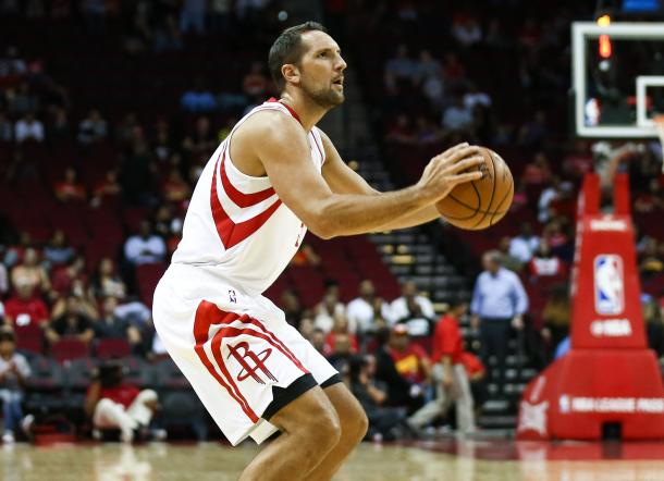 Ryan Anderson has been a Houston Rockets target for God knows how long. Finally, Leslie Alexander and Daryl Morey were able to acquire him, hoping that he can stretch the court and alleviate the offensive burden on Harden's shoulders. Photo Credit: Troy Taormina/USA TODAY Images.