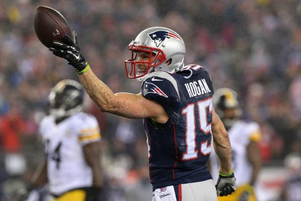 Chris Hogan played great in the AFC Championship and may be an X-Factor in the Super Bowl. Photo Credit: Geoff Burke/USA TODAY Images.