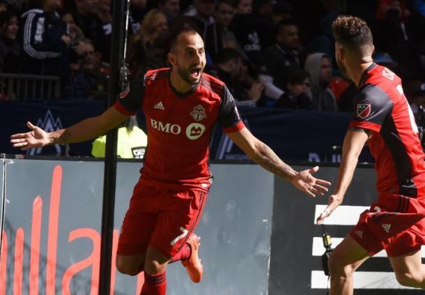 Vazquez celebrando un gol. // Imagen: Toronto FC