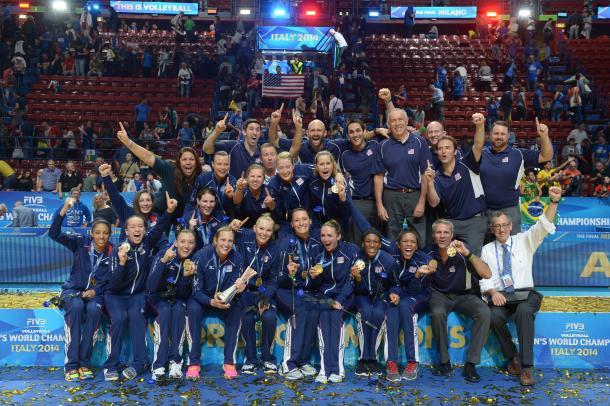 Estados Unidos ganó el Campeonato del Mundo en Italia 2014.   Foto: FIVB
