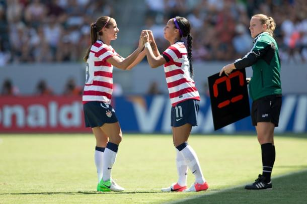 Morgan and Leroux will be looking to reignite their national team partnership for Orlando | Source: ussoccer.com