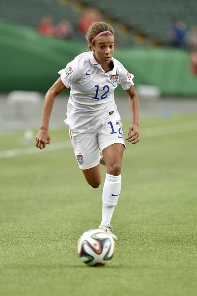 At 17-year-old Mallory Pugh is the youngest player on the United States Women's Senior National Team. Photo provided by John Ulan-ISI Photos.