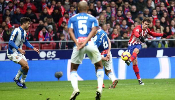 Griezmann fue el único que consiguió marcar en el encuentro | Foto: Atlético de Madrid