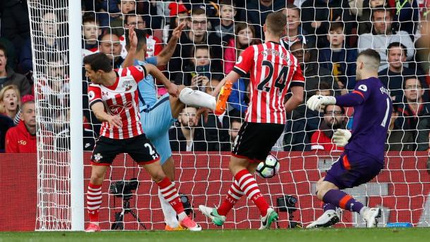 Último partido entre Southampton y Manchester City | Fotografía: Premier League