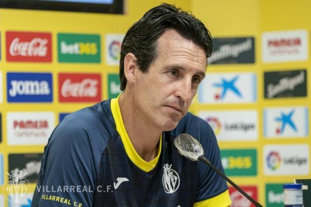 Unai Emery en rueda de prensa | FUENTE: Villarreal CF