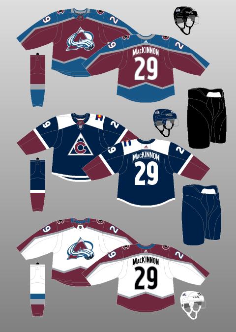 Uniformes de Colorado Avalanche / nhluniforms.com