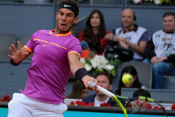 Rafael Nadal strikes a powerful forehand (Photo: NurPhoto)