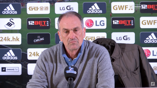 Swansea manager Francesco Guidolin is very focused on Leicester. | Photo: Swans TV.