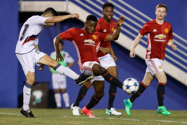 United in action against Chivas in a 4-1 defeat | Photo via Dallas Cup
