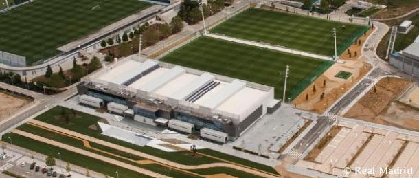 El complejo Valdebebas, lugar de entrenamiento de Real Madrid. Se lo prestará al plantel de la Banda. Foto: Real Madrid Oficial.