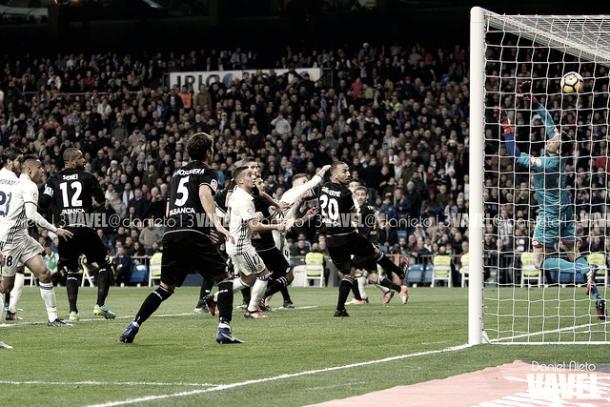 Sergio Ramos marcaba el 3-2 contra el Deportivo de la Coruña | Foto: VAVEL