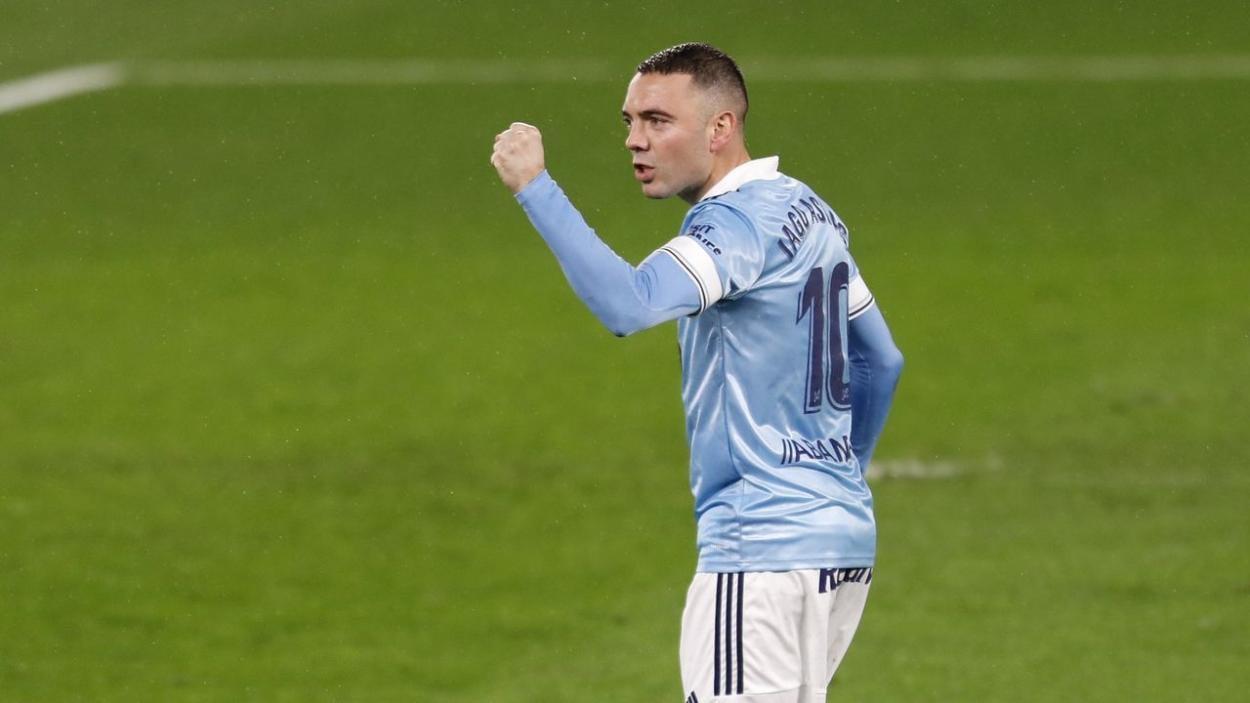 Aspas celebrando un gol   Fuente: Óscar Vázquez