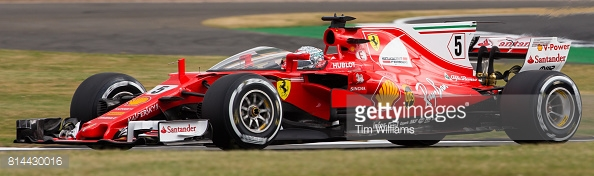 Vettel tried the 'Shield', and reported that vision was a particular problem. (Image Credit: Tim Williams/Getty Images)