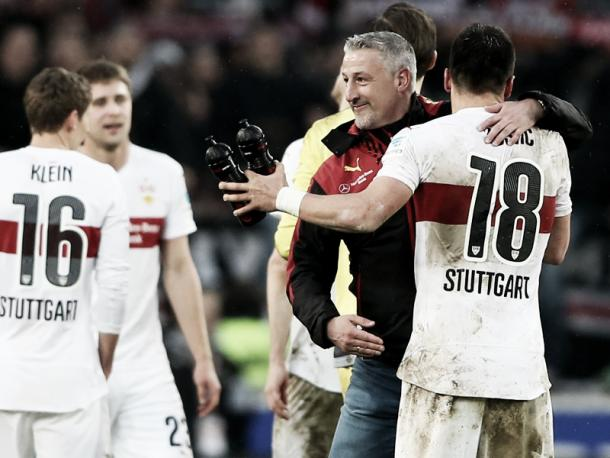 Will it be all smiles for Kramny and Stuttgart come full-time on Saturday? | Image source: kicker