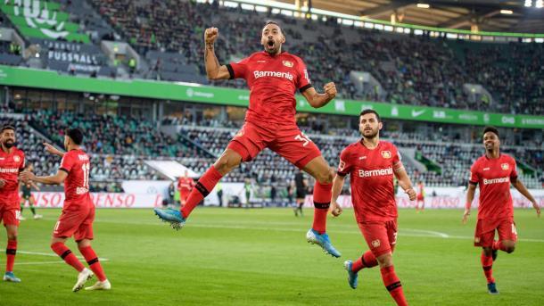 Bellarabi abriu o placar para vitória do Leverkusen no primeiro turno (Foto: Divulgação/Bayer Leverkusen)