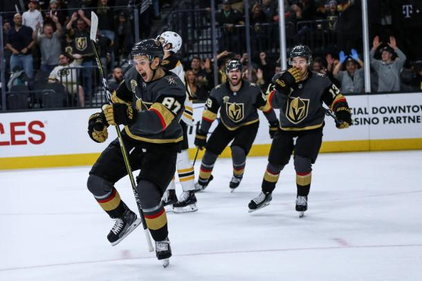 The new expansion Vegas Golden Knights are surprising even themselves with their success. (Photo: Las Vegas Review-Journal)