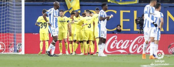 El Leganés tras recibir un gol| Fuente: LaLiga
