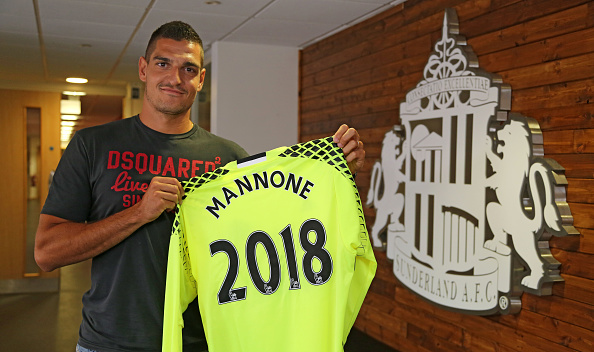 Mannone was delighted with his extension. | Image credit: Ian Horrocks/Sunderland AFC via Getty Images