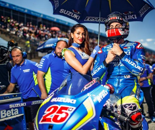 Vinales prepares for the race start. | Image: MotoGP