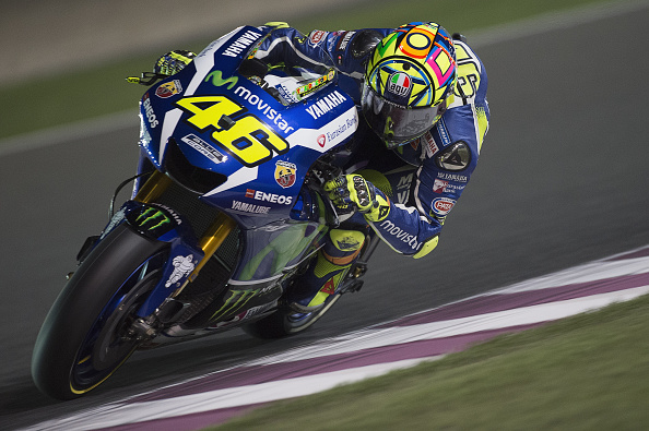 Valentino Rossi during MotoGP Qatar qualification | Photo: Mirco Lazzari