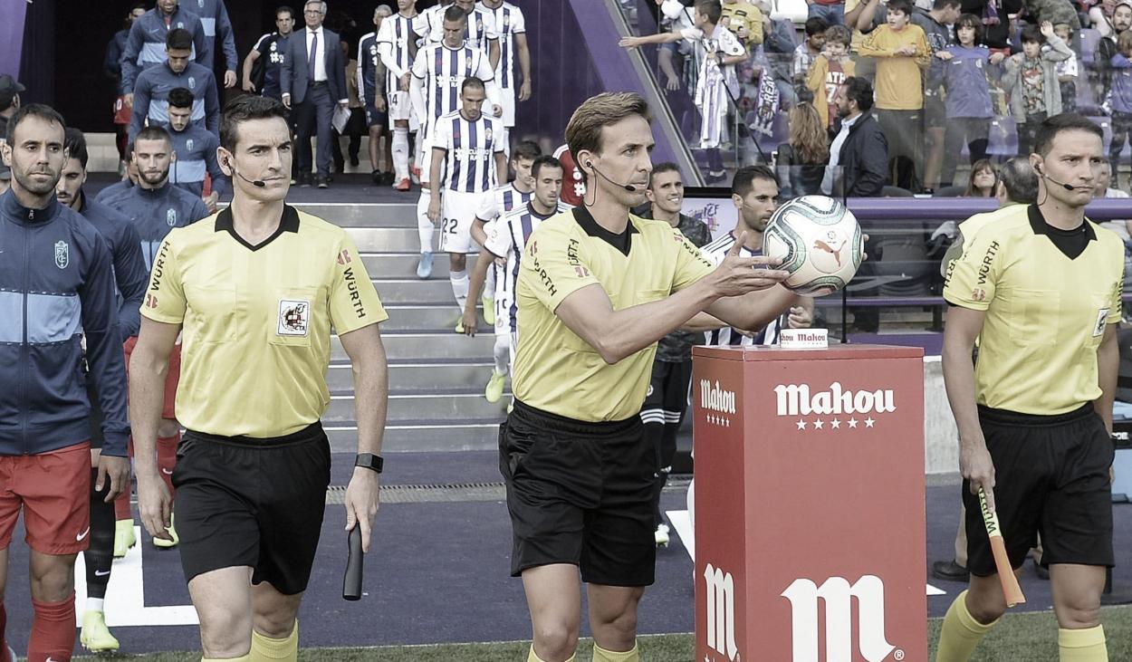 Valentín Pizarro Gómez, árbitro del partido que enfrentará a Valencia CF y RC Celta / Fuente: LaLiga