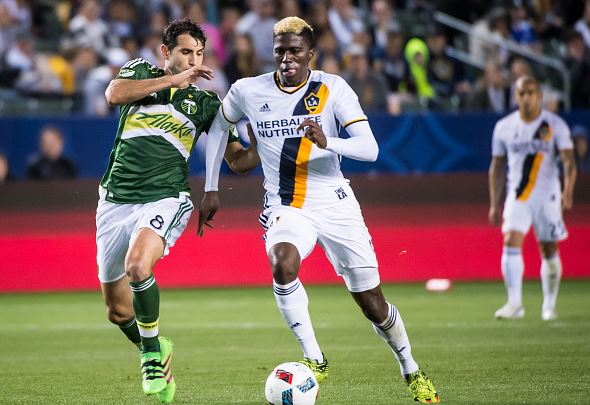 Diego Valeri (left) will not be able to play due to the red card he received against the San Jose Earthquakes | Shaun Clark - Getty Images