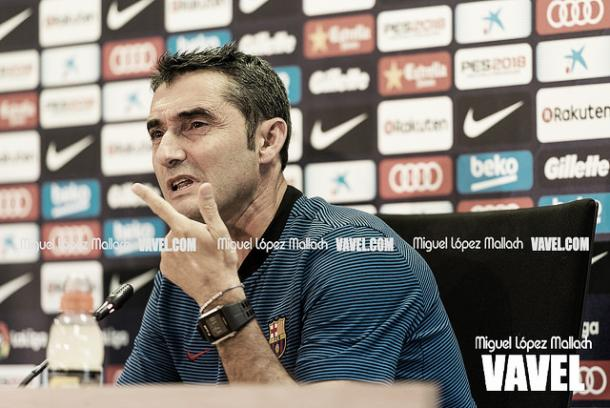 Valverde en rueda de prensa   Foto: Miguel López - VAVEL