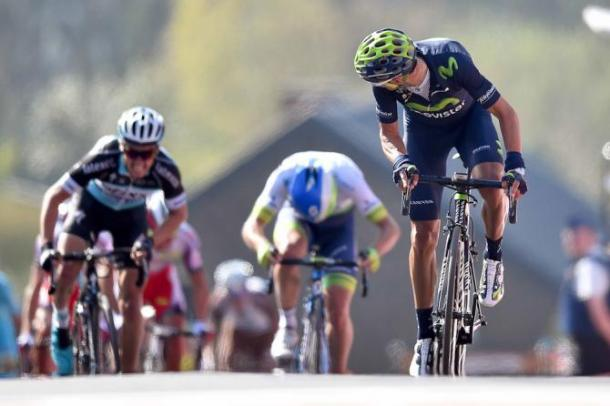 Valverde sprinting to victory last year at Fleche Wallonne / Cycling News