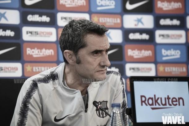 Valverde en rueda de prensa | Foto: Noelia Déniz - VAVEL